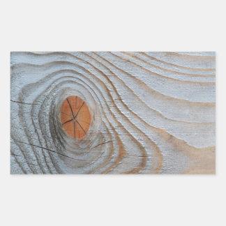 Cinza azul da textura de madeira adesivo retângular