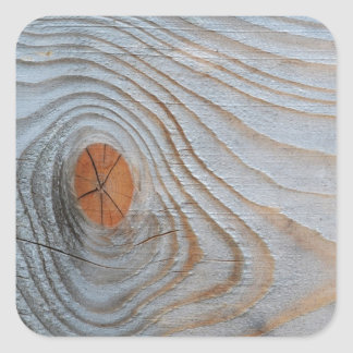 Cinza azul da textura de madeira adesivo quadrado