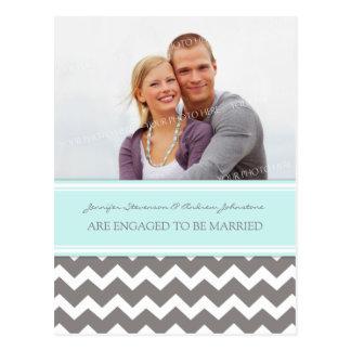 Cinza azul do cartão da foto do anúncio do noivado