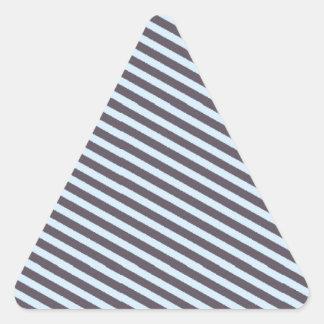 Cinza azul listrado adesivos em forma de triângulo