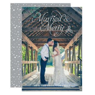 Cinza casado & alegre do cartão | do feriado da