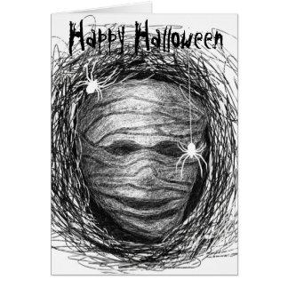 Cinza da mamã do cartão do Dia das Bruxas