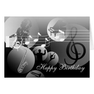 Cinza da música do amor do cartão de aniversário