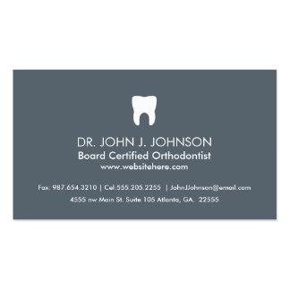 Cinza de ardósia profissional da odontologia cartão de visita