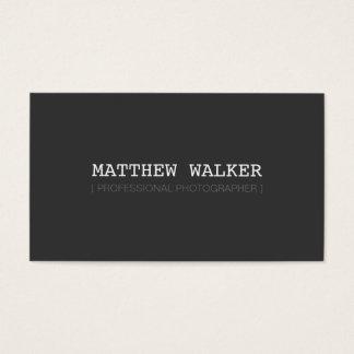 Cinza de carvão vegetal escuro esperto moderno cartão de visitas