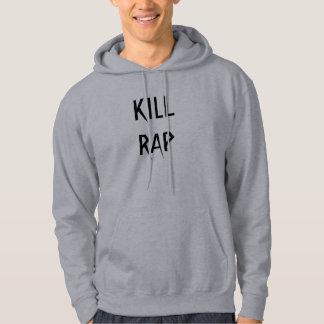 Cinza do hoodie do RAP do MATAR Moletom Com Capuz