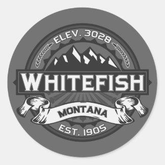 Cinza do logotipo do peixe branco adesivo