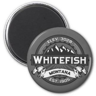 Cinza do logotipo do peixe branco imas