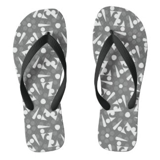 Cinza e branco do design de Jimette dos chinelos