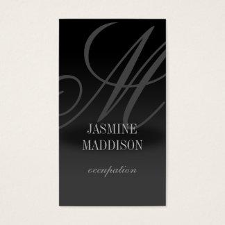 Cinza elegante profissional do preto do cartão de