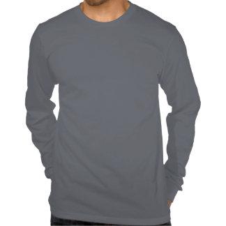 cinza escuro de Irún que funciona a camisa longa d Tshirts