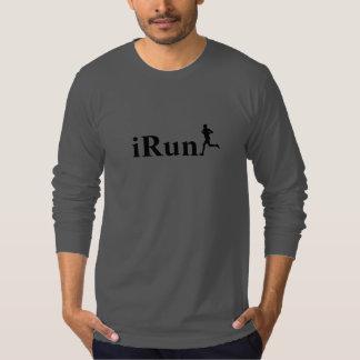 cinza escuro de Irún que funciona a camisa longa T-shirt