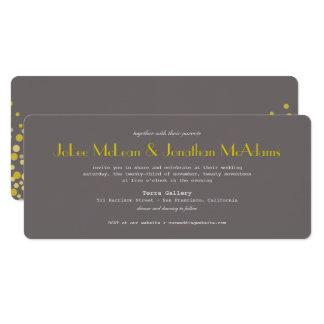 Cinza moderno & ouro do convite do casamento