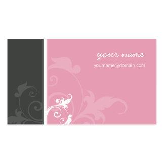 Cinza orgânico elegante do rosa da verve do CARTÃO