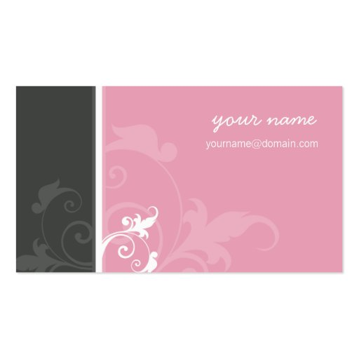 Cinza orgânico elegante do rosa da verve do CARTÃO Cartões De Visita