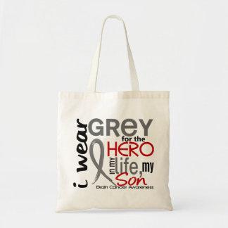 Cinza para meu cancro cerebral do filho do herói 2 bolsas de lona