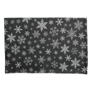Cinza preto & de prata do floco de neve moderno 2