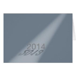 Cinzas 2013-2014 do projector do feliz ano novo cartão comemorativo
