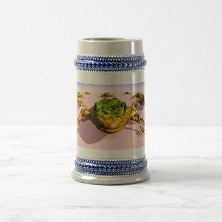 Cinzas/azul sapo da caneca de cerveja de 22 onças