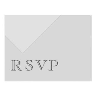 Cinzas básicas assimétricas mínimas RSVP Cartão Postal
