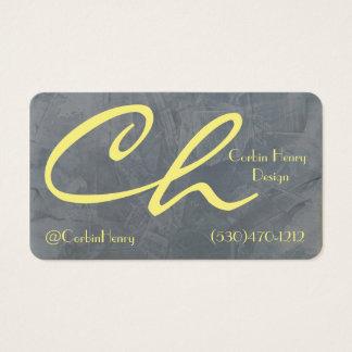 Cinzas de ardósia e cartões de visitas do amarelo