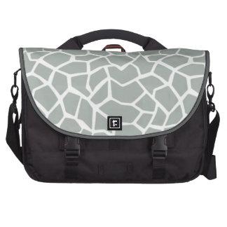 Cinzas de cinza; Impressão animal do girafa cinzen Bolsa Para Laptop