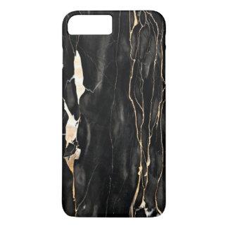Cinzas de mármore na moda do ouro do preto do capa iPhone 7 plus