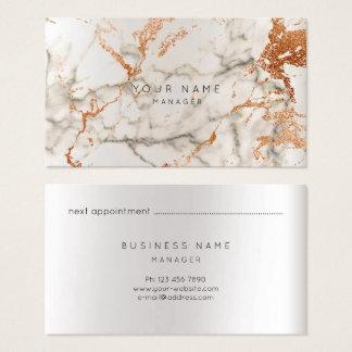Cinzas de mármore VIP do cobre da prata do cartão