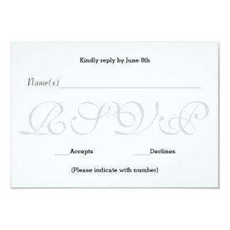 Cinzas do fundo - cartão da resposta da recepção convite 8.89 x 12.7cm