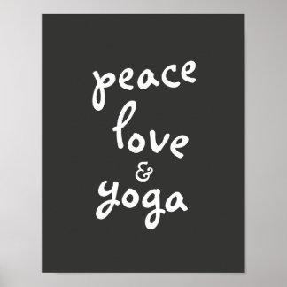 cinzas e branco do poster da tipografia da ioga do pôster