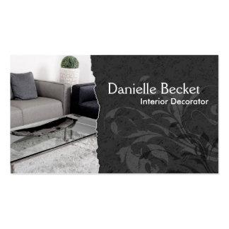 Cinzas elegantes do cartão de visita do decorador