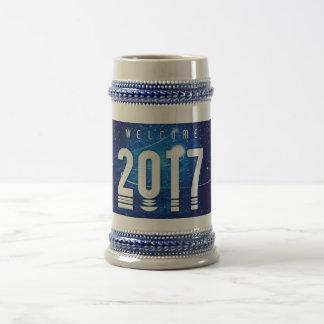 Cinzas especiais/azul do ano novo caneca de