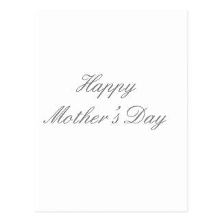 Cinzas felizes do dia das mães os presentes de cartao postal