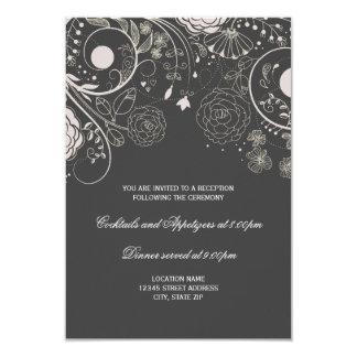 Cinzas florais do teste padrão/branco - convite da