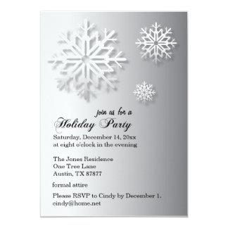Cinzas formais dos flocos de neve | da festa convite 12.7 x 17.78cm