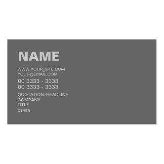 Cinzas modernas cartão de visita