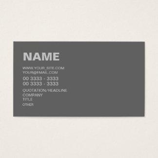 Cinzas modernas cartão de visitas
