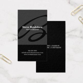 Cinzas modernas do monograma cartão de visitas