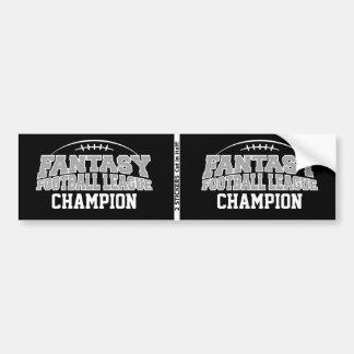 Cinzas pretas e de prata do campeão do futebol da  adesivo para carro