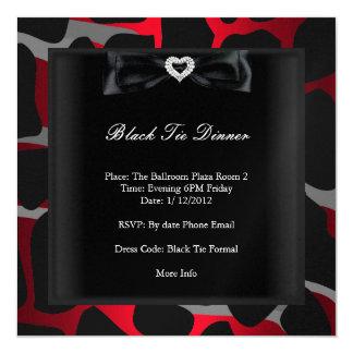 Cinzas pretas vermelhas formais do traje de convite quadrado 13.35 x 13.35cm