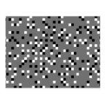 Cinzas, teste padrão de pontos quadrado preto e br cartoes postais