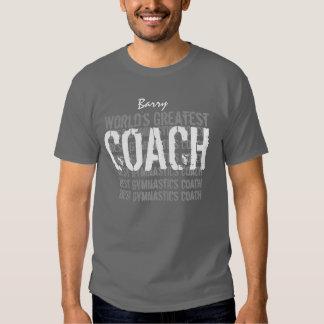 CINZAS V05 do treinador da GINÁSTICA do mundo as Camiseta