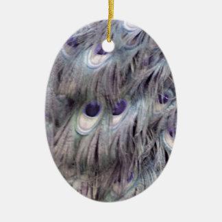 Cinzas velhas delicadas ornamento de cerâmica oval