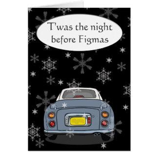 """Cinzento """"Twas a noite antes cartão de Natal de"""