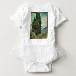 Ciprestes de Van Gogh Body Para Bebê