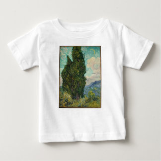 Ciprestes de Van Gogh Camiseta Para Bebê