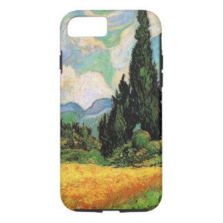 Ciprestes de w do campo de trigo de Van Gogh em Capa iPhone 7