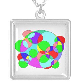 circe du colores colar com pendente quadrado