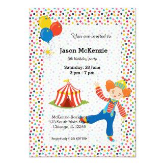 Circo Convite 12.7 X 17.78cm