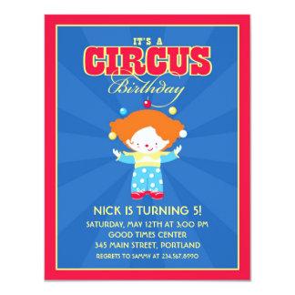 Circo/convite de aniversário do carnaval convite 10.79 x 13.97cm